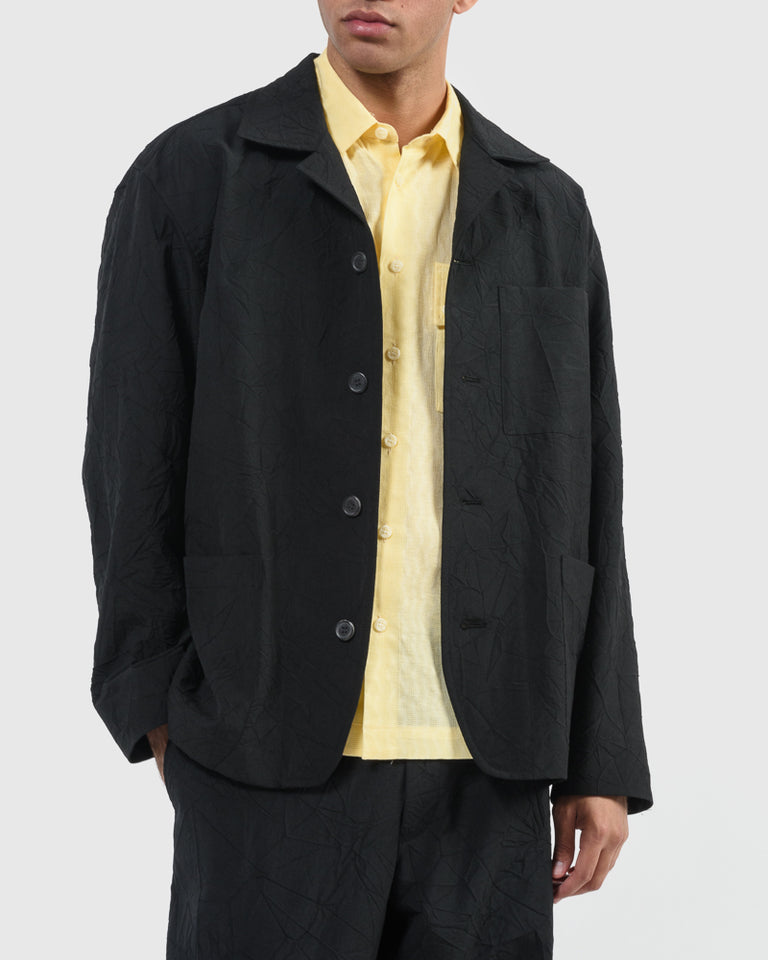 Crush Wool Jacket in Black