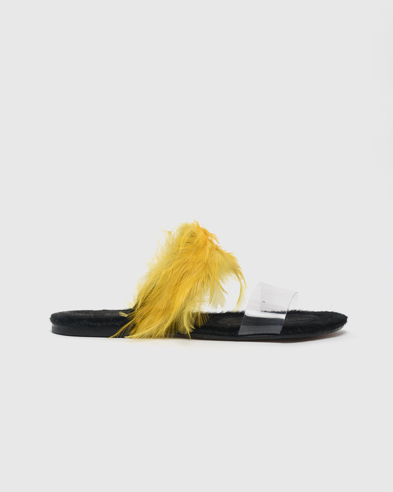Feather Slide in Yellow