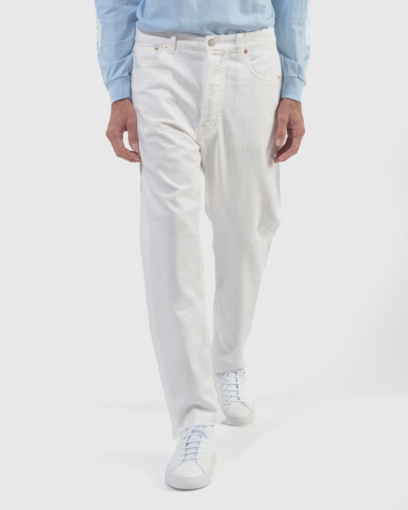 Ventilation Color Jeans in White