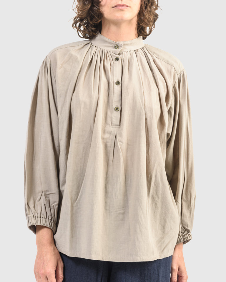 Balloon Sleeve Blouse in Sand