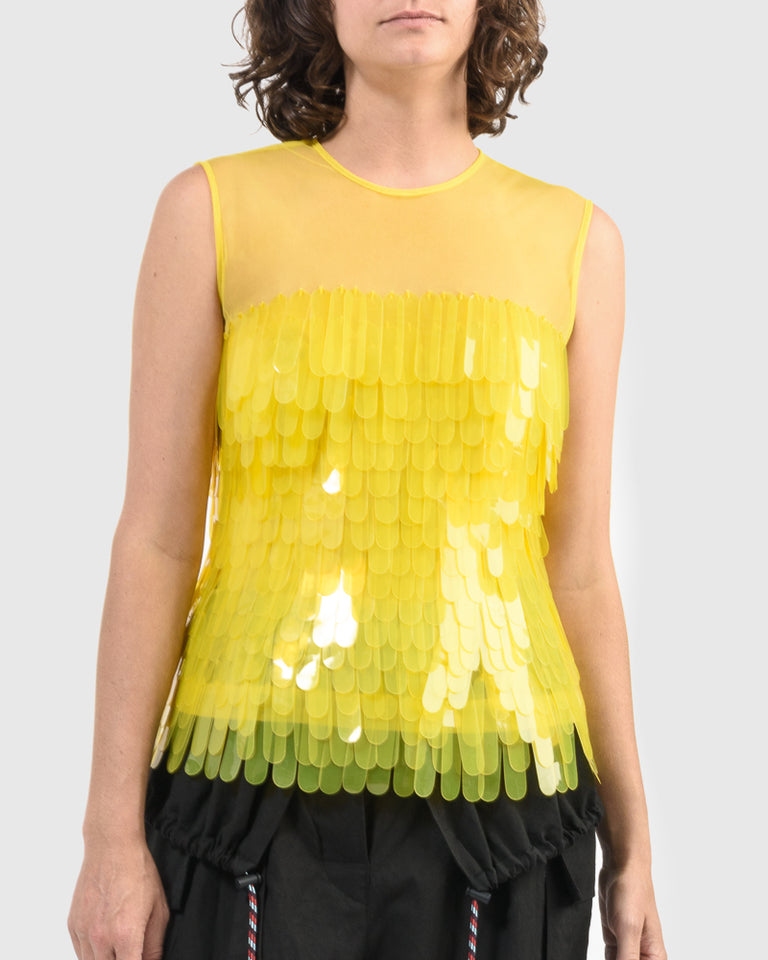 Centila Embellished Shirt in Yellow
