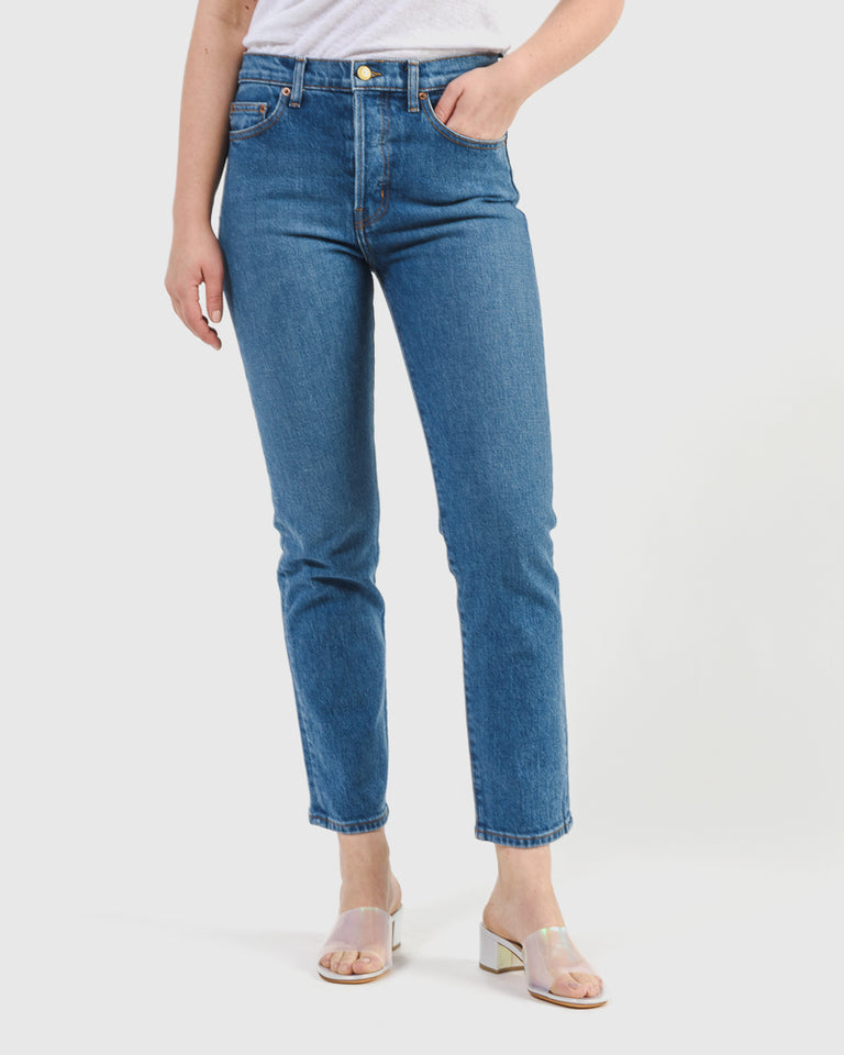 Henri High Slim in Medium Vintage Wash