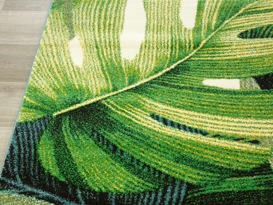 Leaf Design Modern Turkish Rug
