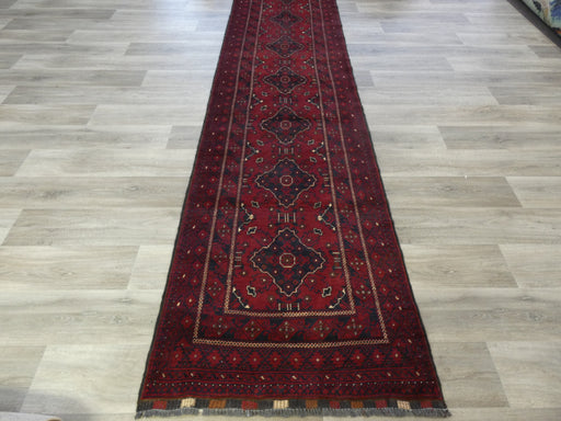 Afghan Hand Knotted Khal Mohammadi Runner Size: 379 x 90cm