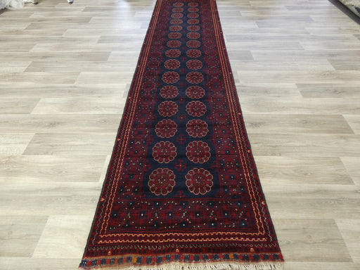 Afghan Hand Knotted Khal Mohammadi Runner Size: 383 x 90cm
