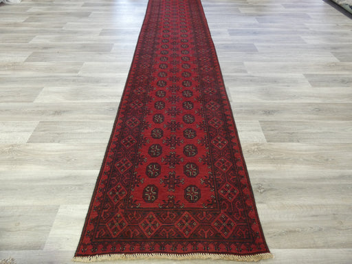 Afghan Hand Knotted Turkman Runner Size: 570 x 80cm