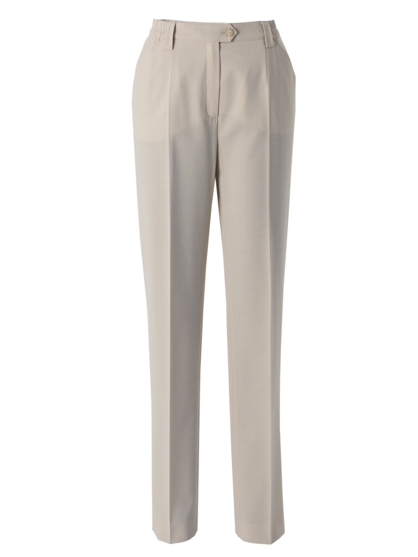 Michele Beige Slim Leg Classic Smart Trouser Short