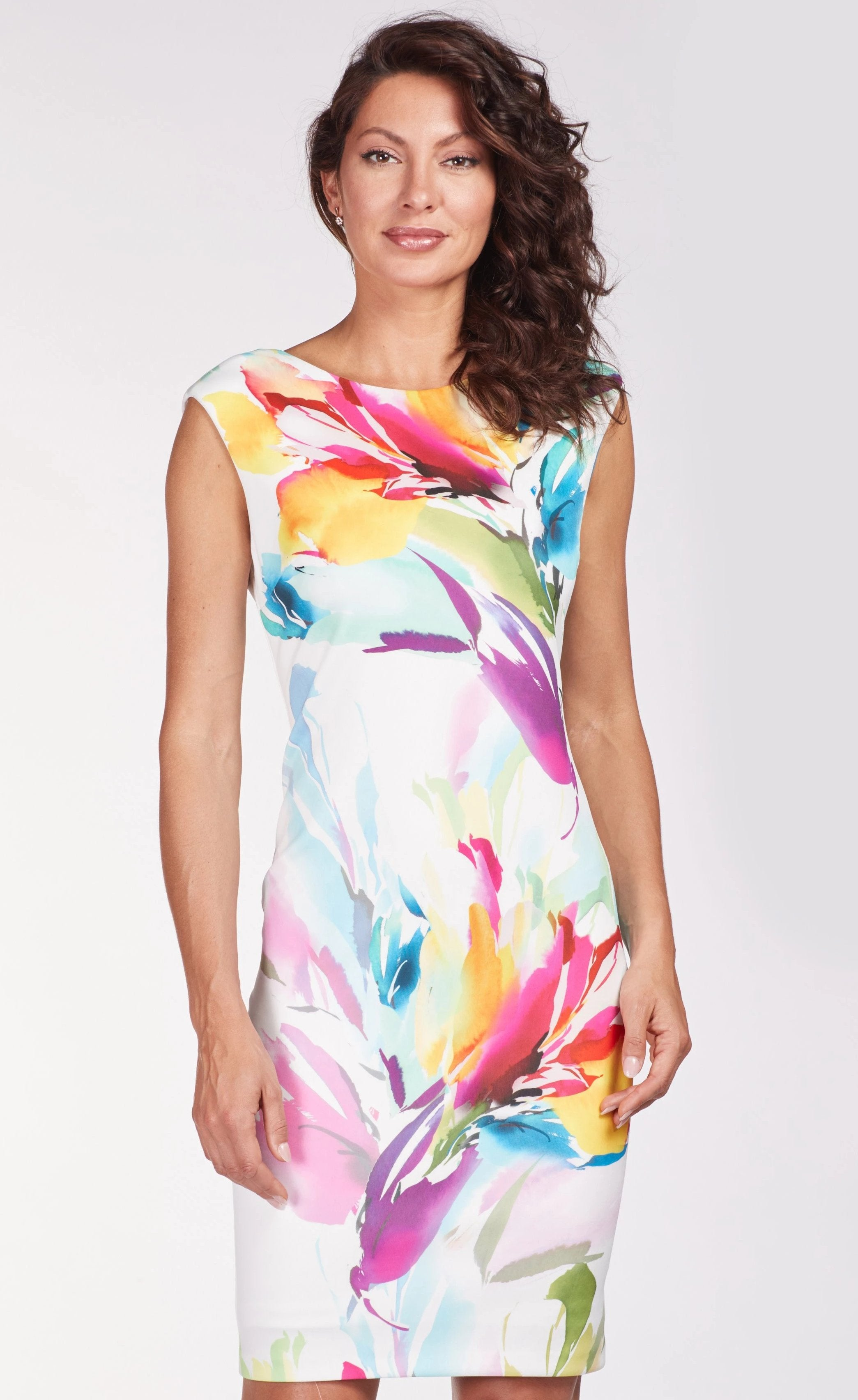 Frank Lyman Pink/Multi Colour Shift Dress