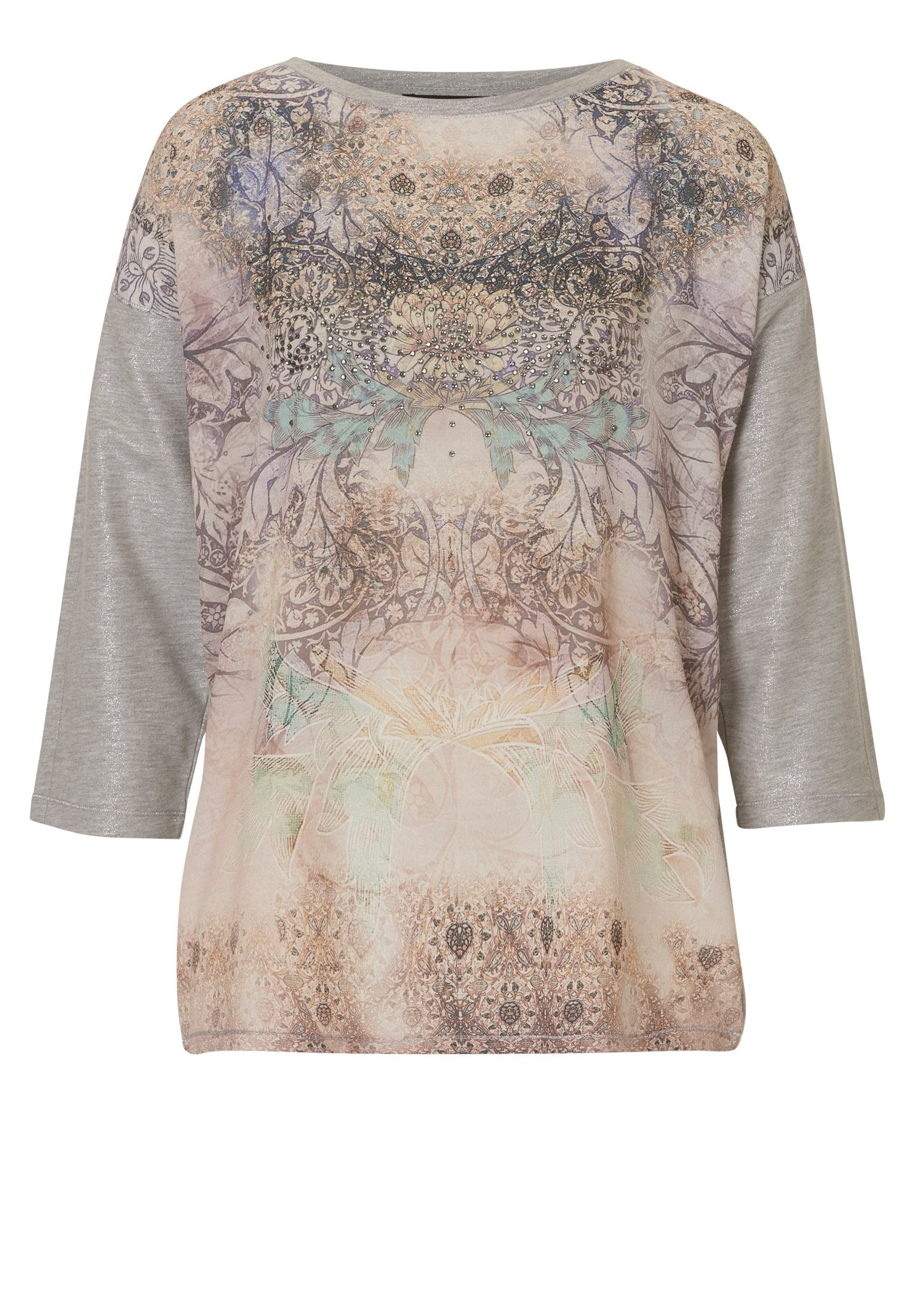 BETTY BARCLAY Printed-front Jersey Top