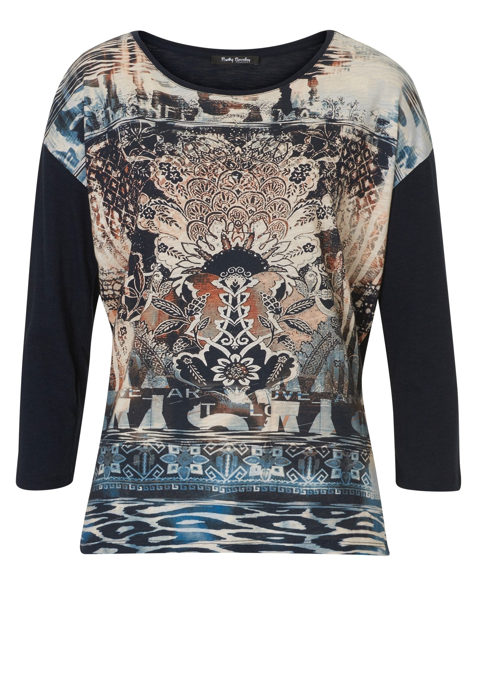 BETTY BARCLAY Print-front Jersey Top