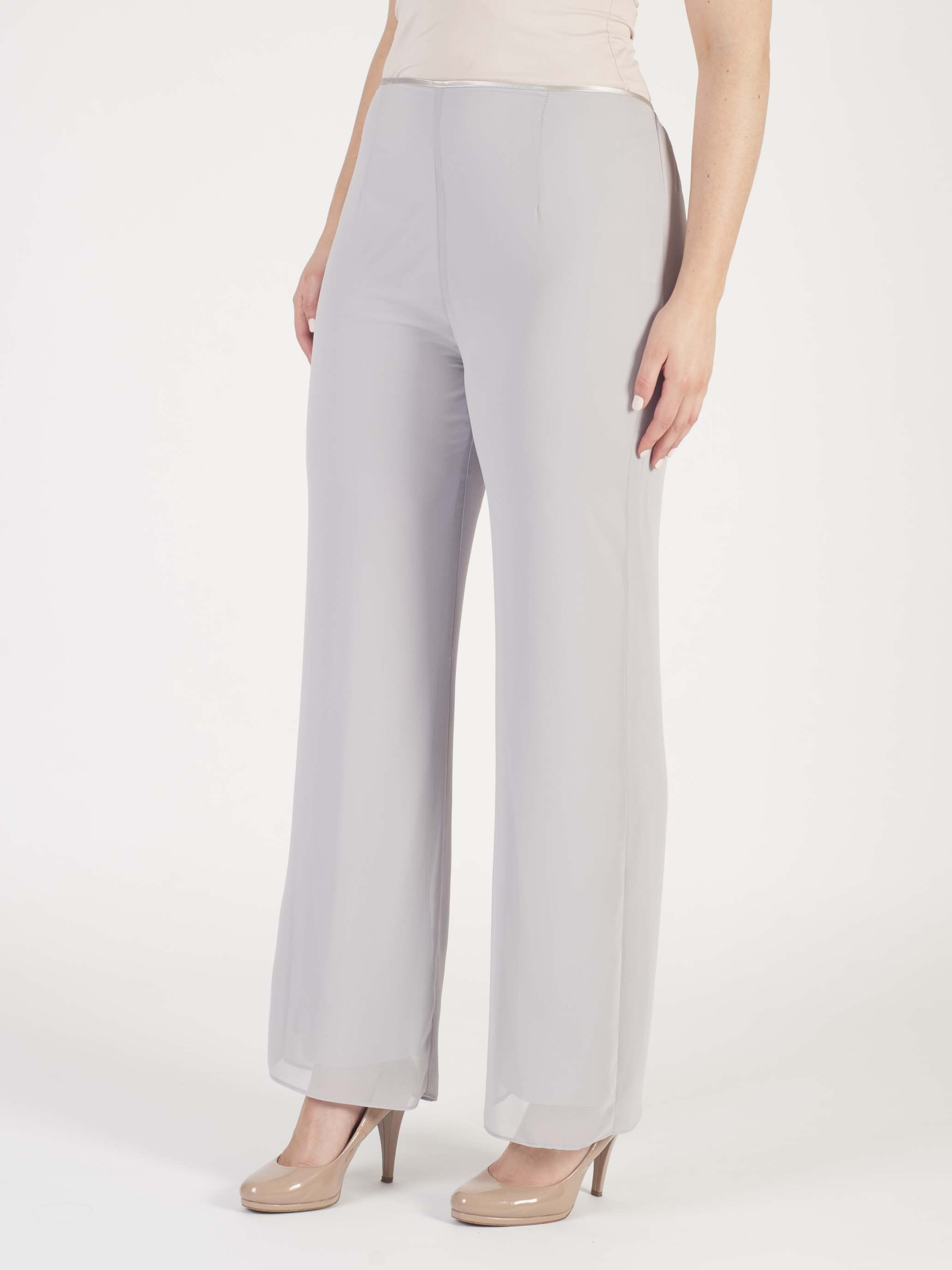 Soft Grey Chiffon Trouser