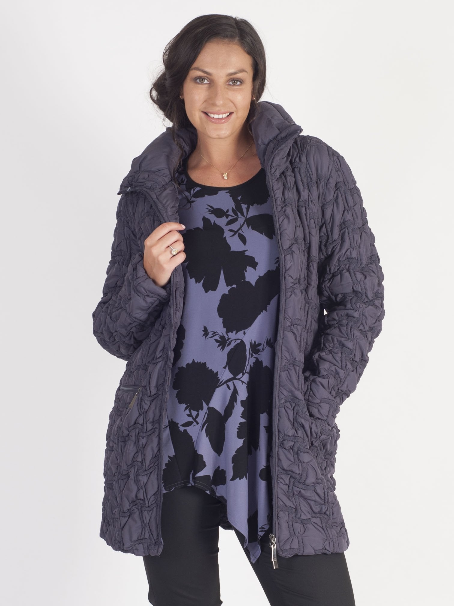 Hyacinth Quilted Coat
