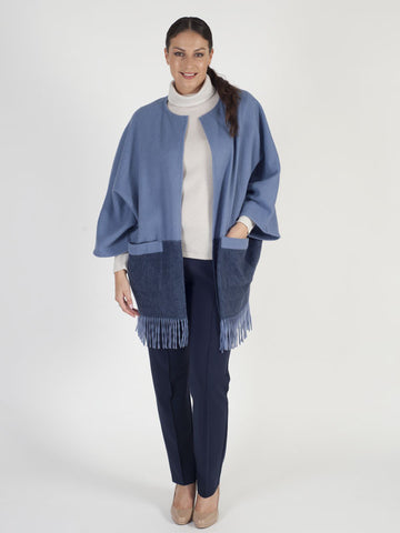 Basler Edge to Edge Fringed Jacket