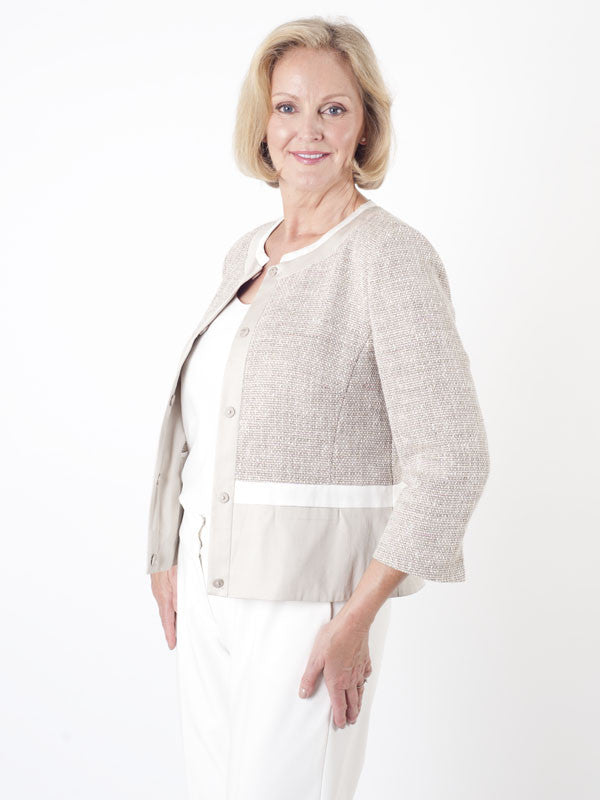 Gerry Weber Cotton-trim Tweed Jacket