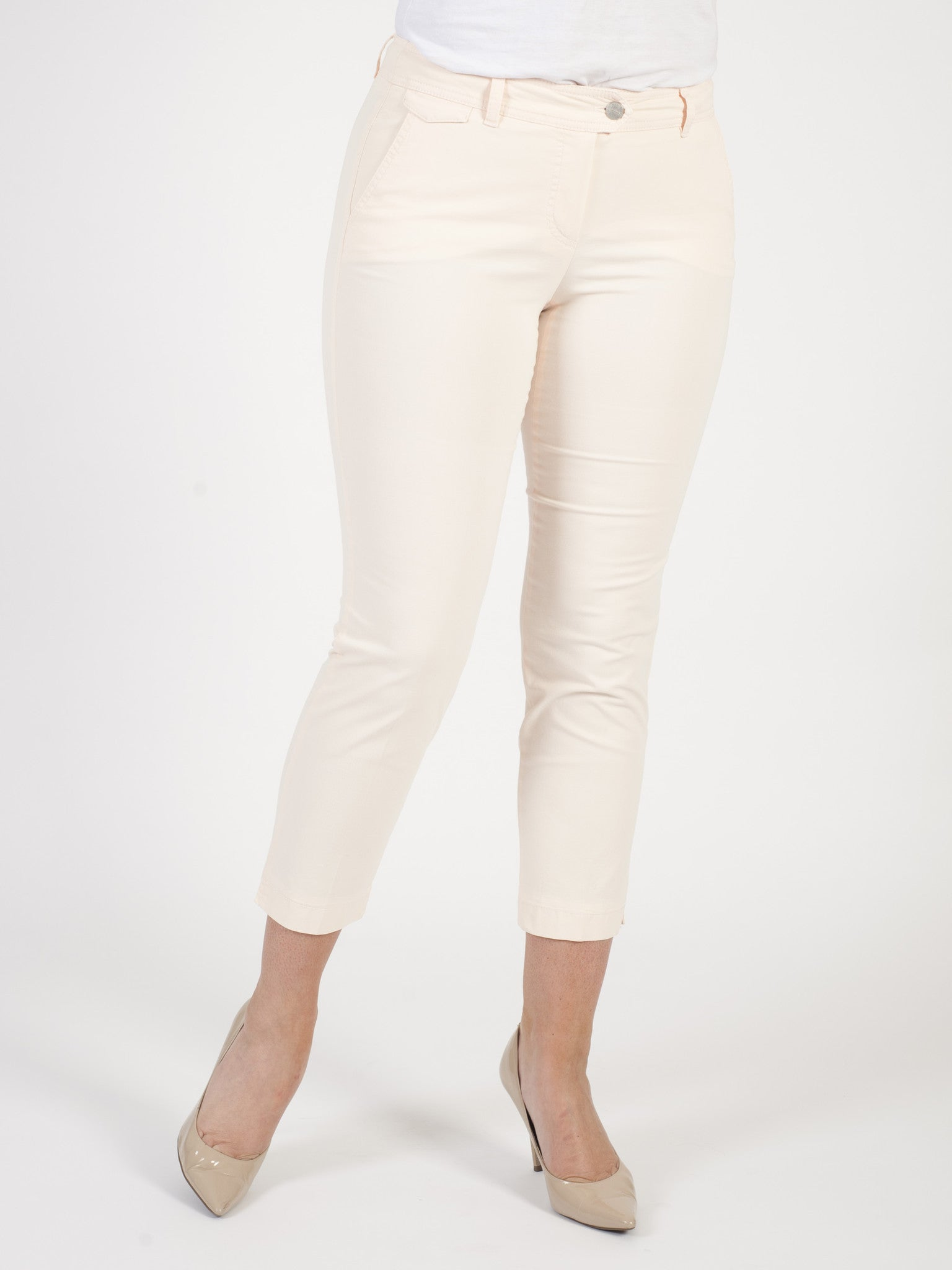 Gerry Weber Apricot 'Patrizia' Stretch Cotton Crop Trousers
