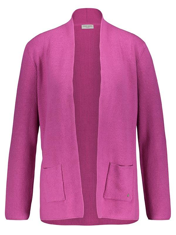 GERRY WEBER Pink Cotton Knit Long Cardigan