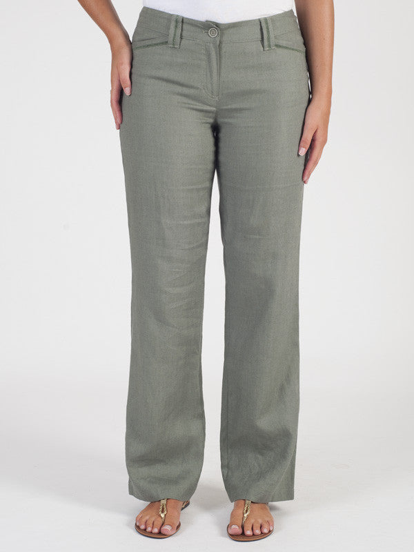 Gerry Weber Green Linen Trouser