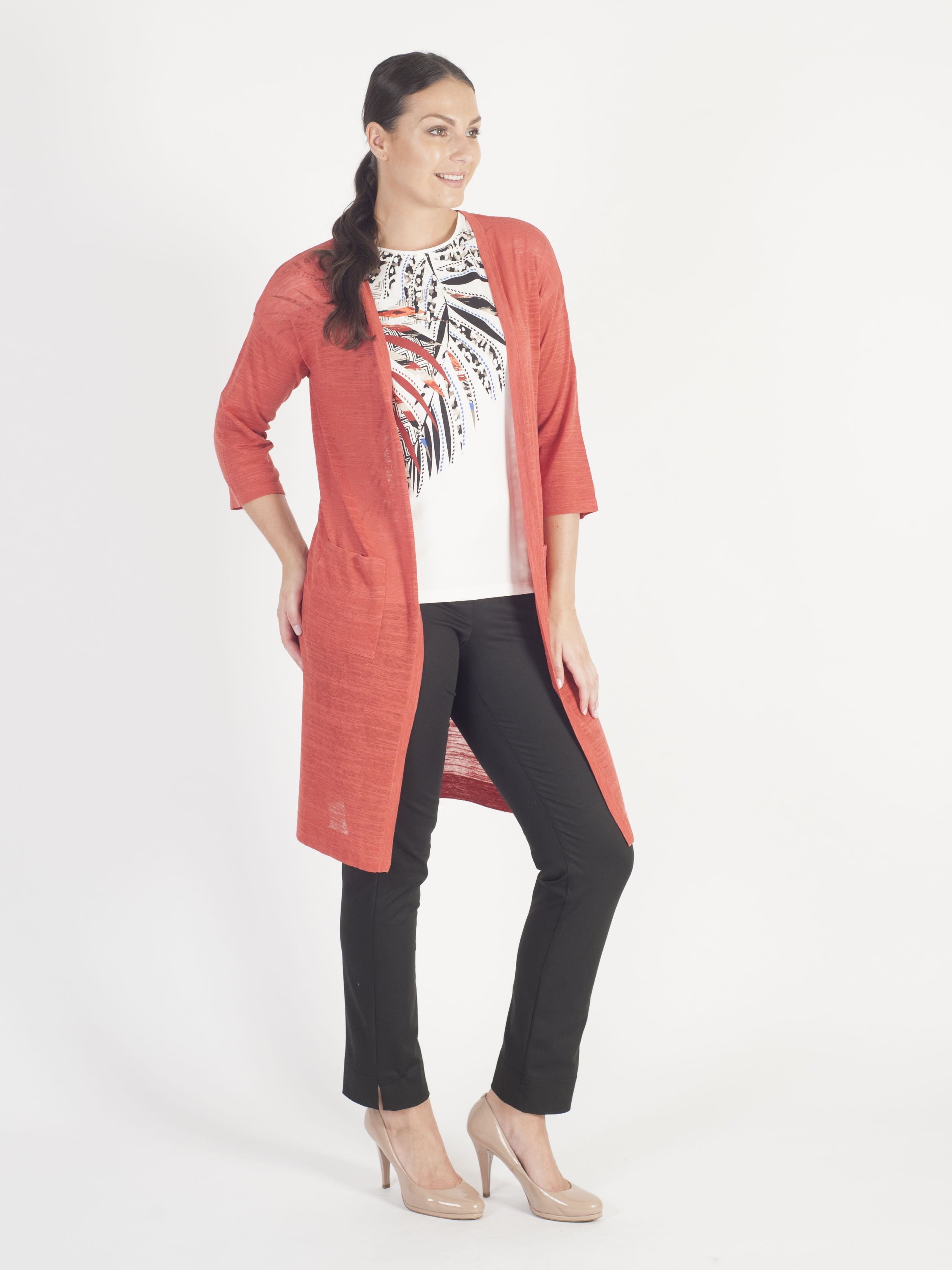 Gerry Weber burnt orange  Longline Cardigan
