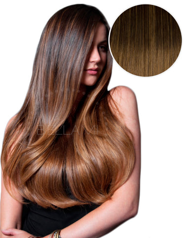 "Balayage 160g 20"" #2 Dark Brown/ #6 Chestnut Brown"