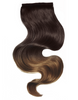 "BELLAMI It's A Wrap Ponytail 20"" 100g  Balayage Off Black and Chocolate Brown (#1B/#4) Human Hair"