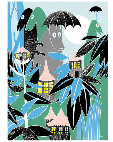 Print: Moomins - In the Rainforest