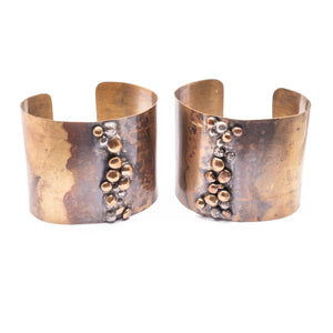 Continental Divide Brass Bronze Recycled Silver Bronze Ombre Cuff Bracelet ^^^ Union Studio Metals