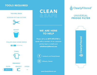Clearly Filtered™ Universal Inline - Refrigerator Filter - Help and Tips