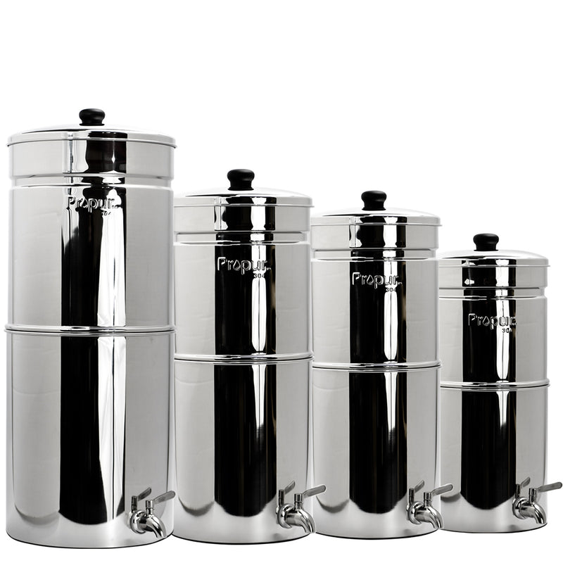 Propur® Gripper Polished King - Gravity Fed Water Filtration System