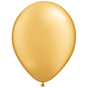 "11"" Latex Balloon, Gold available at Shop Sweet Lulu"