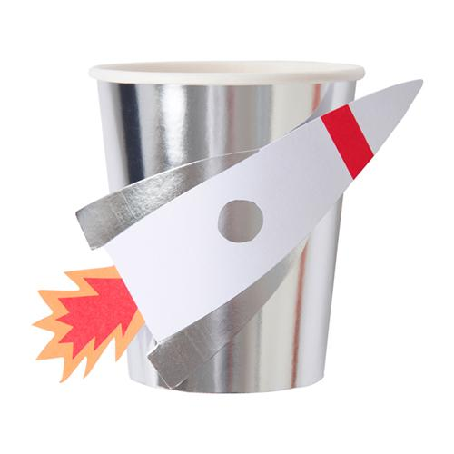 Space Rocket Party Cups available at Shop Sweet Lulu