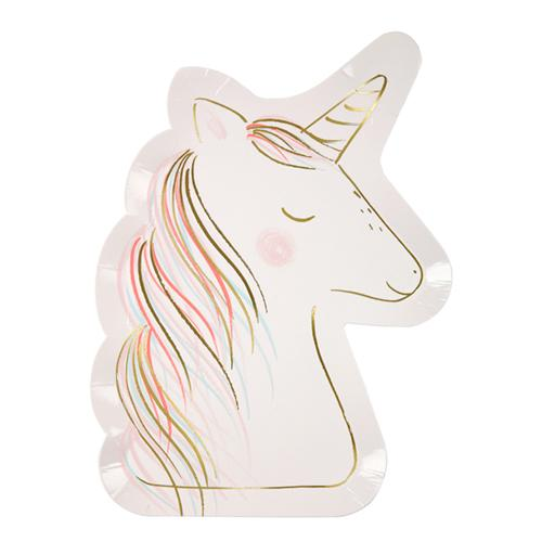 Unicorn Diecut Plates available at Shop Sweet Lulu