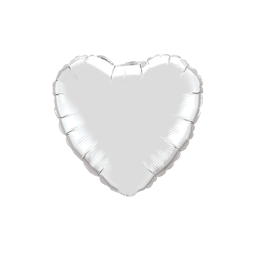 Tiny Foil Heart Balloon, Silver available at Shop Sweet Lulu