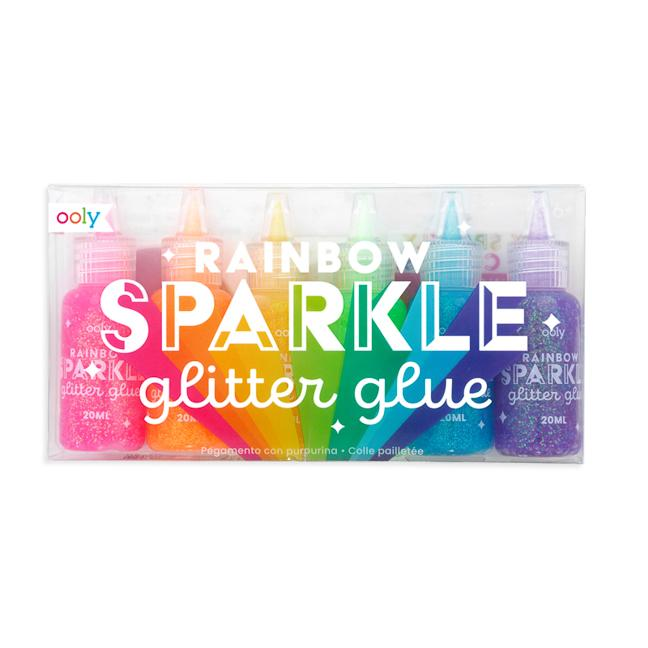 Rainbow Sparkle Glitter Glue - Set of 6