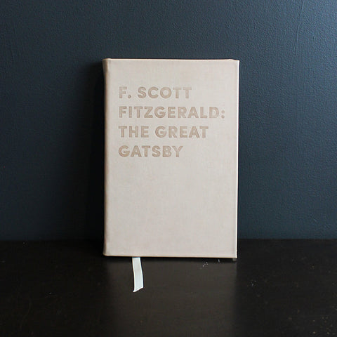 .Neutral Leather Bound Great Gatsy Book