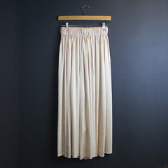 .Cream Silk Pants