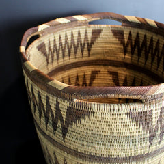 .Brown Handwoven XL Basket