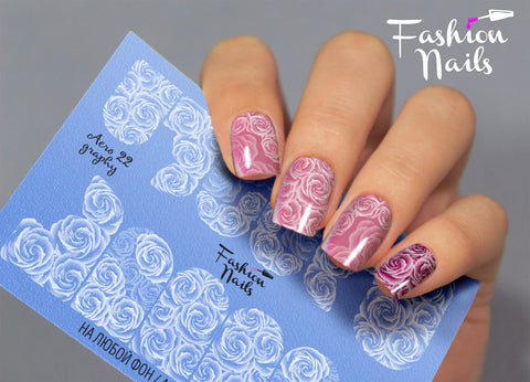 Fashion Nails - AEROgraphy 22 Water Decals