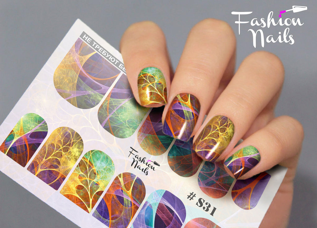 Fashion Nails - Stretch 31 Water Decals