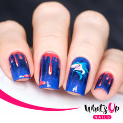 Whats Up Nails - P009 Shark Attack Water Decals