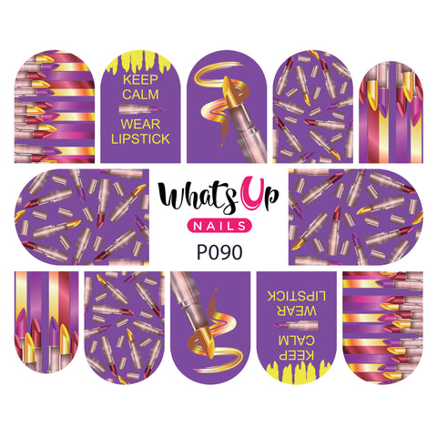 Whats Up Nails - P090 Lipstick Diva Water Decals