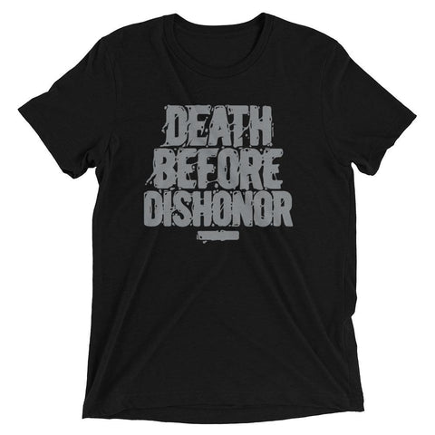 Dapper Sam Death Before Dishonor Smoke Grey 10s Tee