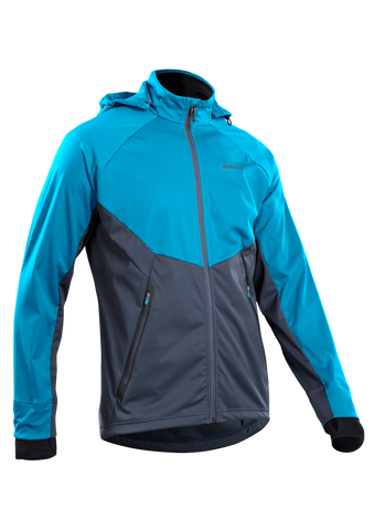 SUGOI Men's Firewall 180 Jacket, Glacier Blue/Coal Blue (U720000M)