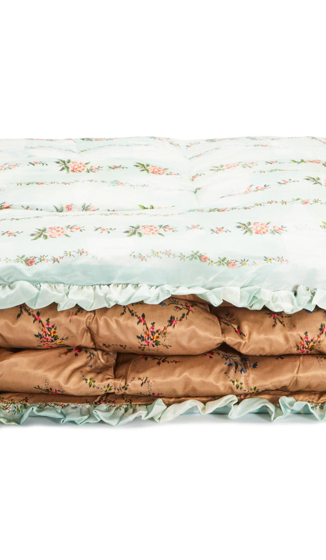 MINT PETAL CHAIN QUILTED EIDERDOWN