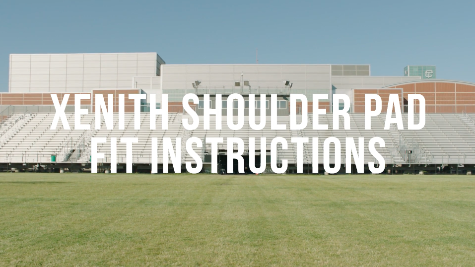 XFLEXION SHOULDER PADS FITTING INSTRUCTIONS