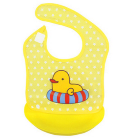 Waterproof Bib With Removable Food Catcher (BFC004)