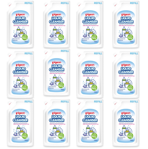 Pigeon Liquid Cleanser Refill 700ml x 12 Packs (1 Carton) - Thailand Version