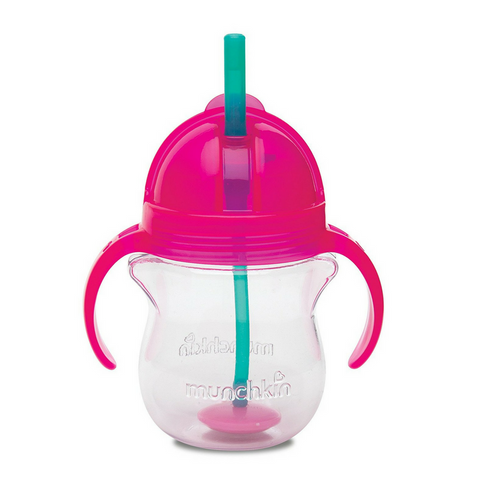 Munchkin Click Lock Tip & Sip Straw Cup - Pink