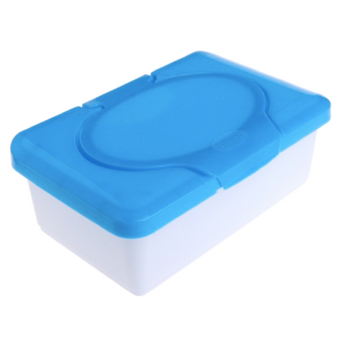 Wet/Dry Wipes Container - Blue