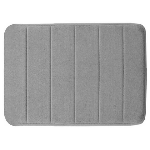 Memory Foam Floor Bath Mat - Grey