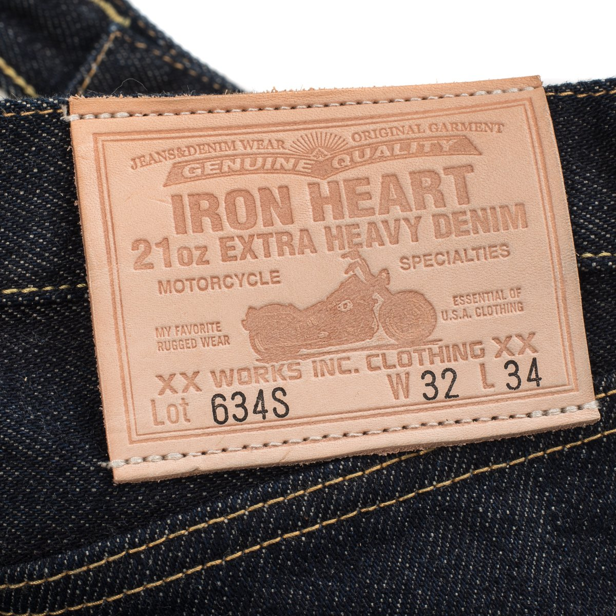 Iron Heart - 634S Indigo 21oz